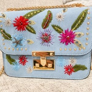 Bead and jewel cocktail purse